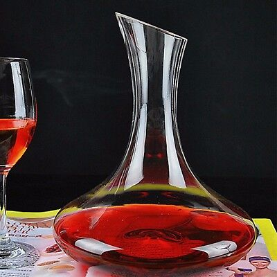 1 Ltr Glass Wine Decanter Water Juice Cold Drinks Carafe Durable Glass Jug