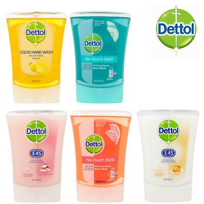 Dettol No Touch Anti Bacterial Hand Wash Refills 5 Different Fragrances 250ml