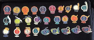 Sydney 2000 Olympic Pins -  FULL SET OF DAYS TO GO PINS