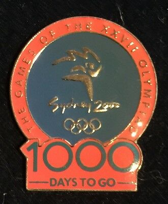 Sydney 2000 Olympic Pins -  1000 DAYS TO GO