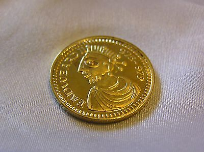 SOLID SILVER GILT ROYAL SOVEREIGN of KING EADWEARD II 975 979 AD 4.5 GRAMMES