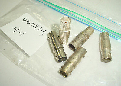 5 BNC  Couplers UG914/U  Female Silver Plated & Other