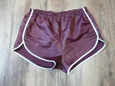 Vintage Shiny Nylon Shorts Glanz Ibiza Tennis Sz Small* (S259)