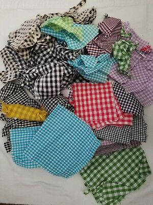 late 1800's to early 1900's gingham fabric/material