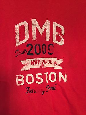 NWT Dave Matthews Band T-Shirt Fenway May 2009 tour tee #41 Moore Womens Red XL