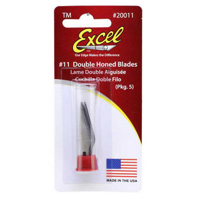 Excel #11 Double Honed Craft Knife Replacement Blades 5 Pack