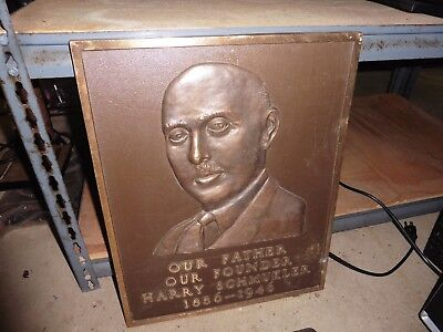 Vintage Plaque Man face Our father founder Harry Schmukler 1886-1946 bronze 28lb