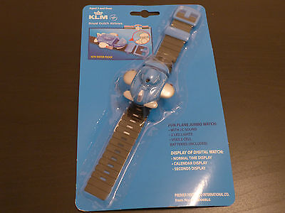 KLM Airline Fun Plane Jumbo Watch Spielzeug Armbanduhr Kinder