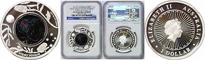 2013P Australia $1 Opal Series-Pygmy Possum Early Release NGC PF 70 Ultra Cameo
