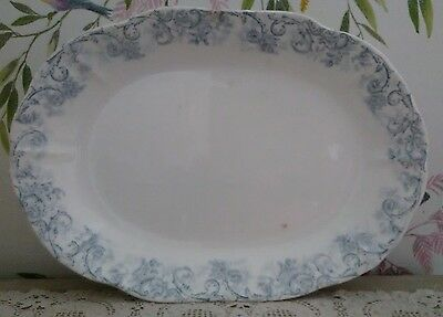 John Maddock & Sons Royal Vitreous Rococo Serving Platter Meat Plate 1880 - 96