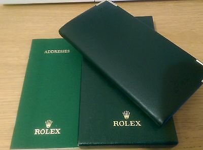 Rolex 2008 genuine green diary with address book. Boxed. Collectable item