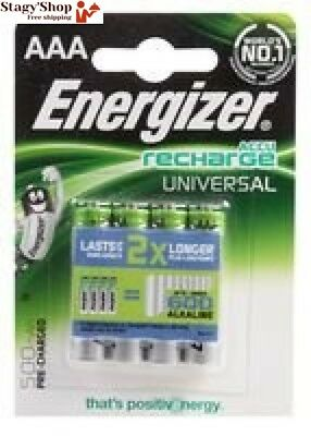 BATTERY, PRE-CH NIMH AAA 500MAH 4PK 638624 By ENERGIZER