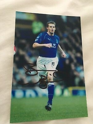 *Brian Mcbride Everton USA Soccer Signed Photo Fulham Columbus Chicago*