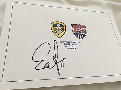 *Eddie Lewis USA Soccer Signed Leeds Preston LA Galaxy*