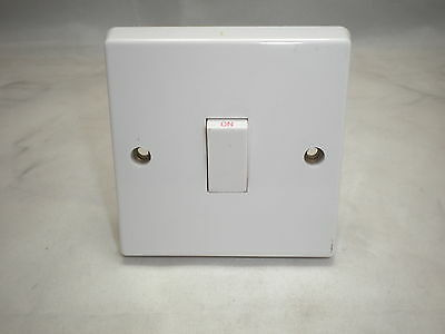 Contactum 1798 20A 1Gang Double Pole Switch White British Made