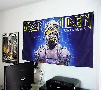 IRON MAIDEN Powerslave HUGE 3X5 BANNER poster tapestry cd album cover art