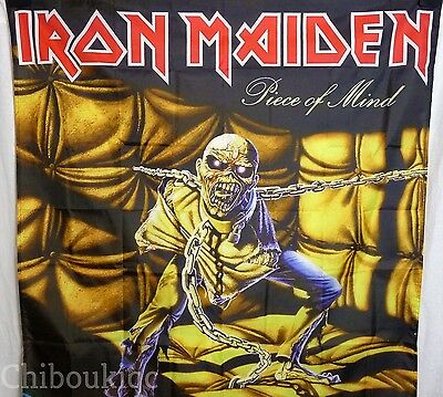 IRON MAIDEN Piece of Mind HUGE 4X4 BANNER poster tapestry cd album cover art