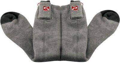 Grey Electric Heated Socks Battery Operated 2.4-3V Electric socks Travel Light