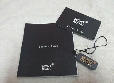Montblanc Service Guide and Watch Tag
