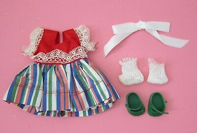 Nancy Ann Muffie Doll Dress w/ Shoes, Socks~Excellent Condition