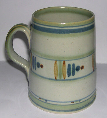 Vintage Buchan Pottery - Full sized Tankard - Abstract Design - 13cm tall.