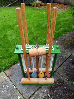 full size croquet set - complete and with instructions