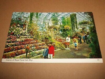 Interior Of Royal Floral Hall , Rhyl ~ Vintage Colour Postcard Posted 1970's