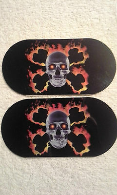 Drum pedal dot Double, Drum pedal Patch,Skeleton flame Style,NEW,PACK OF TWO (2)