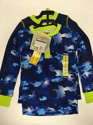 Kirkland Signature Boys Pajama 3 pc. Set : 5 : Blue / Blue Camo