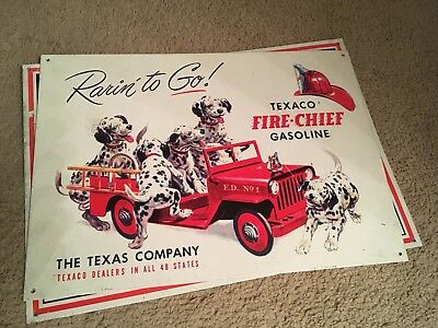 Texaco Firefighter Metal Sign