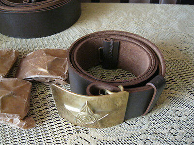 ORIGINAL !!! USSR a military belt - leather .PRICE for 1 piece...