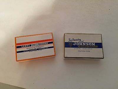 Set of Two Vintage Prescription Boxes - Lynn, IN and Portland, OR