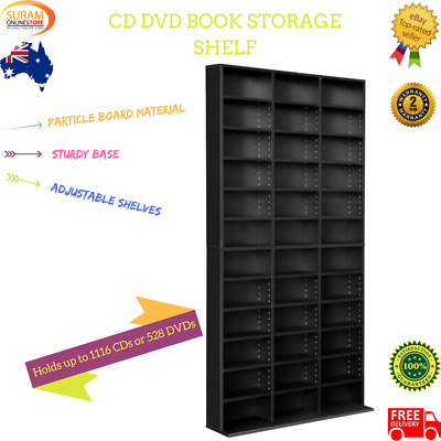 New adjustable CD DVD Book Storage shelf rack with unit particle board material