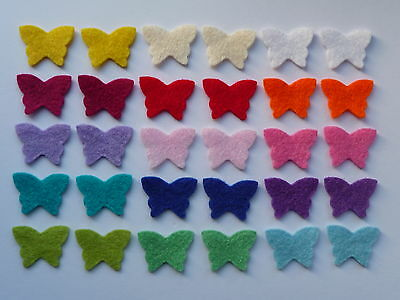 Felt butterfly shapes for crafts
