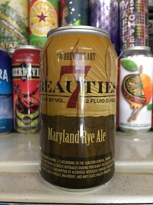 Brewer's Art. 7 Beauties. MD Rye Ale. Craft/Micro Beer Can. MD.
