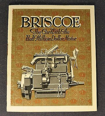 1917-1918 Briscoe Small Catalog Sales Brochure Excellent Original
