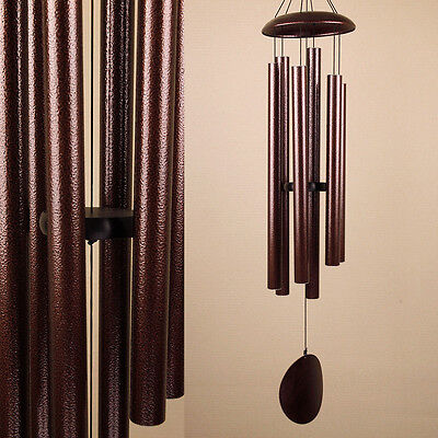 Large Hand Tuned Brown Coloured Metal Wind Chime Outdoor Musical Scale HomeDecor