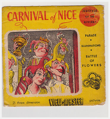 Carnival Of Nice  Festival Of The Riviera  1428 A - B - C  Made In Belgium  Rare