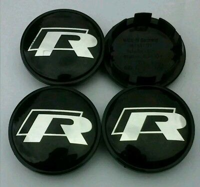 VW Golf Bora R-Line 65mm Wheel Centre Caps/Badge/Emblem Set of 4*UK QUICK POST**