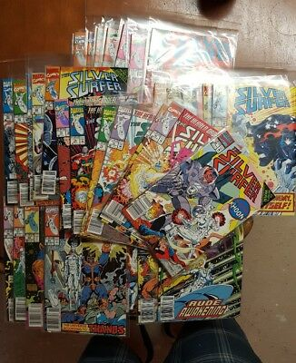silver surfer comic lot thanos infinity gauntlet huge run