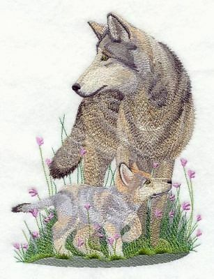 """Wolf & Cub, Embroidered Patch 5.8""""x 7.8"""""""