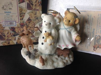"""Cherished Teddies ANGELA  """"Thanks for helping me get my Wings"""" Special issue NIB"""