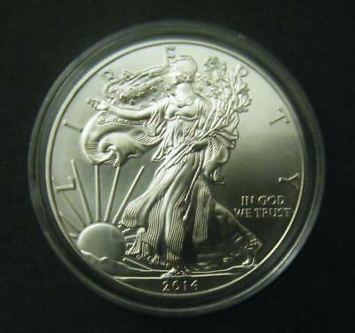 2014 1oz Silver American Eagle Bullion coin .999 Fine One dollar BU uncirculated