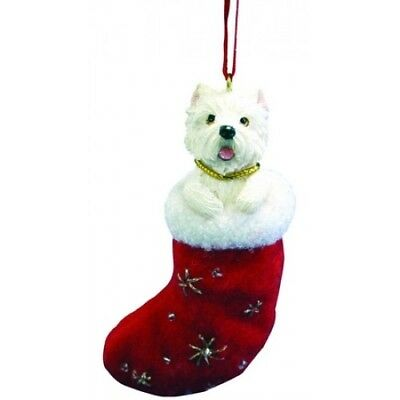 West Highland Terrier Westie Santa's Little Pals Dog Christmas Ornament