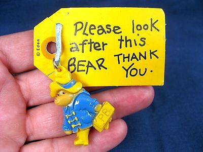 Rare Vintage 1980 New Old Stock Paddington Bear Eden Necklace New On Card