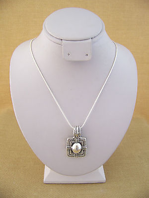 Sterling Silver Ornate Design Pendant With  Sterling Chain