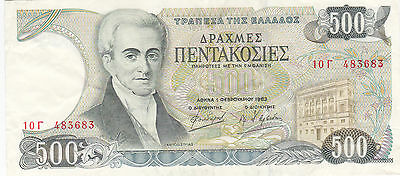 Greece: 500 Drachmai, 1-2-1983 Bank Of Greece Issue, P-201