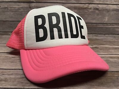 Bride Trucker Hat Pink Snapback - Perfect for Bridal Bachelorette Party