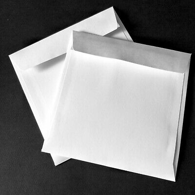 25 / 50/ 250/ 500 White Quality Square Envelopes 150 x 150mm Lick or Peel 100gsm