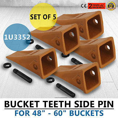 5 Pack 1U3352 Bucket Digging Teeth J350 Digging Set Of 5 Excavator Good Prestige